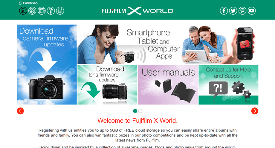 FujiFilm X World